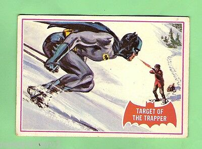 Scanlens 1966 Batman Red Bat Card #4A Target Of The Trapper