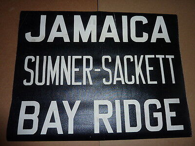 1940's Vintage NYC New York City Trolley Front Destintion Roll Sign JAMAICA