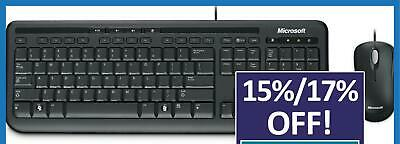 Microsoft Wired Desktop 600 Keyboard and Mouse Combo USB Membrane Standard