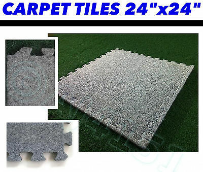 12mm Thick Insulated Carpet Tiles with Underlay Style Sturdy EVA Foam Backing
