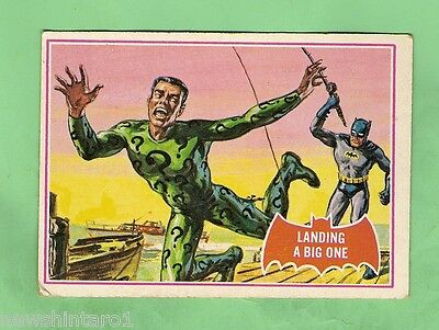Scanlens 1966 Batman Red Bat Card #11A  Landing A Big One
