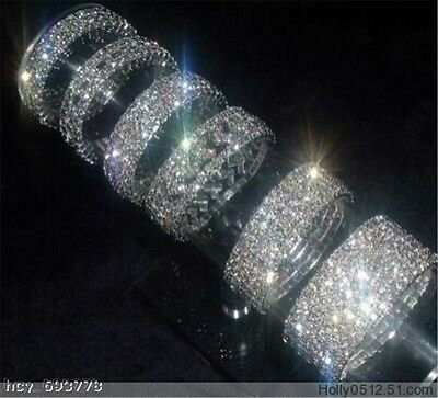 New hot MIXED style Wholesale 6Pcs Stretchy Crystal Rhinestone Bracelets