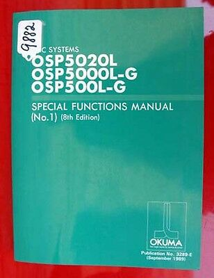 Okuma CNC Systems Special Functions Manual No. 1: 3289E (Inv.9882)