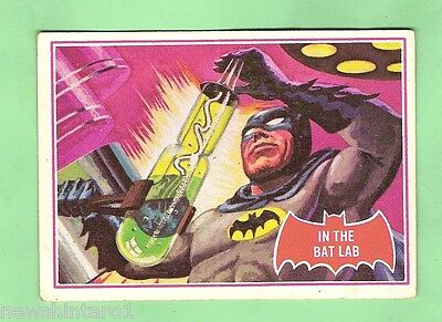 Scanlens 1966 Batman Red Bat Card #25A  In The Bat Lab