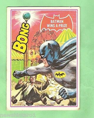 Scanlens 1966 Batman Red Bat Card #21A  Batman Wins A Prize