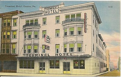 Terminal Hotel Easton PA Postcard
