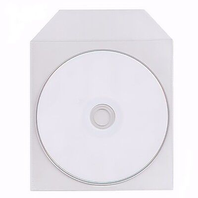 100 Pack Clear Premium Plastic Sleeves 120 micron Bag Envelope Flap Fit CD DVD