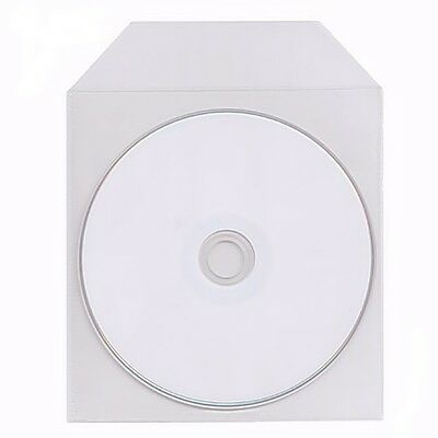 400 Pack Clear Premium Plastic Sleeves 120 micron Bag Envelope Flap Fit CD DVD