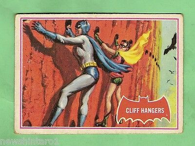 Scanlens 1966 Batman Red Bat Card #36A  Cliff Hangers