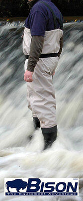 New Bison Breathable Bootfoot Chest Waders  Free Studs & Delivery