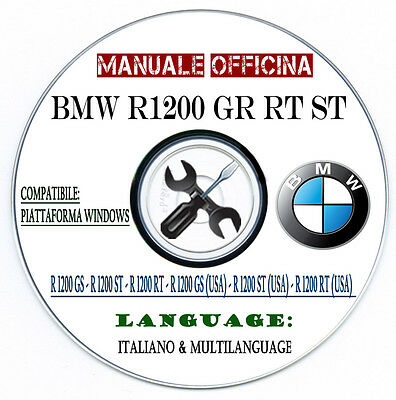 Workshop Manual Bmw R1200 Gs Rt St Manuale Officina Repair Service Multilanguage
