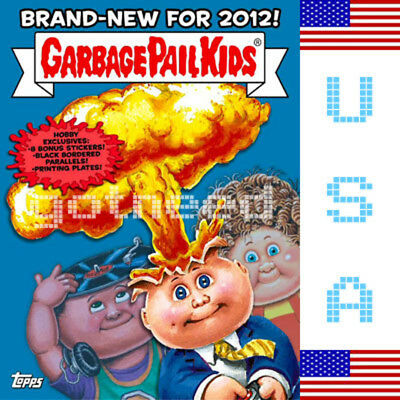 2012 USA Garbage Pail Kids Brand New Series 1 COMPLETE GREEN Set BNS