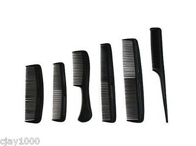 New 6Pc Hair Styling Barber Salon Hairdressing Comb Set, Different Types
