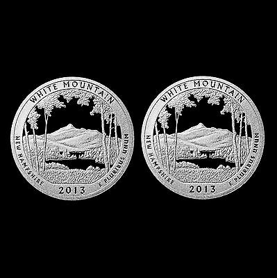 2013 S White Mountain NH National Parks ATB ~ Silver & Clad Mint Proof Coin Set