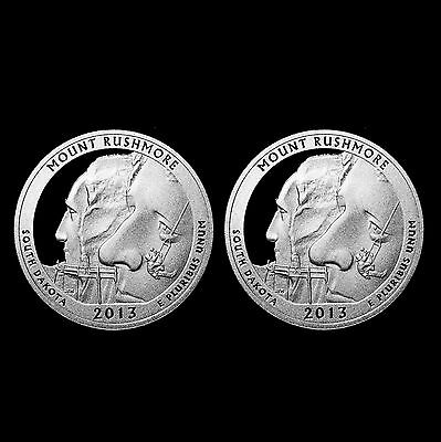 2013 S Mount Rushmore SD National Parks ATB ~ Silver & Clad Mint Proof Coin Set