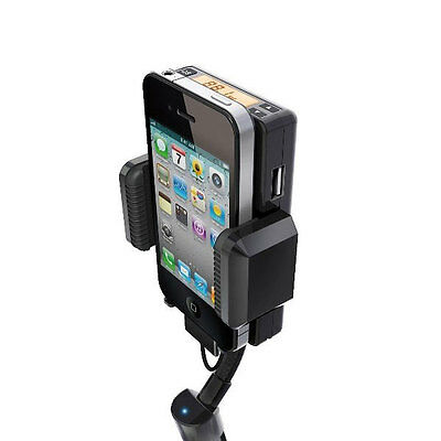Car Kit Charger FM Transmitter Holder Handsfree Kit for iPhone 4s 4