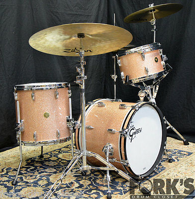 Gretsch USA custom 3pc drum set / Vintage Champagne Sparkle Nitron