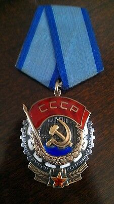 Original Soviet Russian Order Of Red Banner Of Labor! Silver!