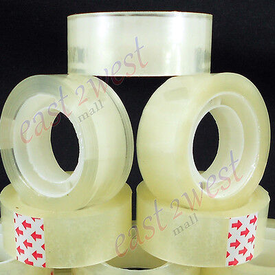 "6 Rolls Transparent Crystal Clear Tape 3/4""x1000  Dispenser Refill 1"" Core NEW"