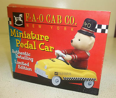 FAO Cab Co. New York 1/12 Scale Diecast Metal Miniature Pedal Car with COA