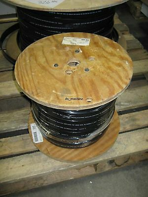 Spool of New 16AWG 8C Flat Festoon Cable Black PVC 200' E-24573 600V
