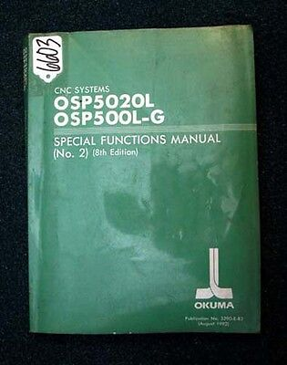 Okuma Special Functions Manual CNC Systems OSP5000L 3290-E-R3 (Inv.6603)
