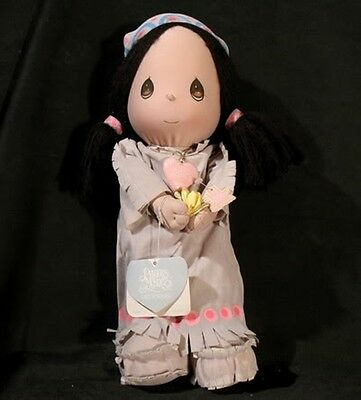 Vintage Precious Moments WANNIE Girl Indian Doll 1985