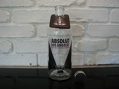 ★★★★ EMPTY ABSOLUT VODKA LA Los Angeles 750ml BOTTLE w/ ORIGINAL NECKTAG ★★★★