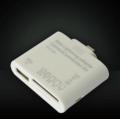 iPad 4 Mini Air  5in1 USB Kamera Connection Kit SD SDHC USB Card Reader Adapter