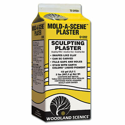 NEW Woodland Scenics Mold-A-Scene Plaster 1/2 Gallon C1202