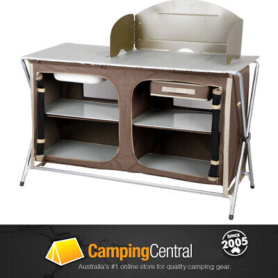 Oztrail Camping Camp Kitchen Deluxe Sink Table *brand New*