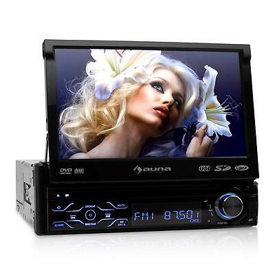 "DIN AUTORADIO USB SD BLUETOOTH DVD 18cm TFT MONITOR 7"" TOUCHSCREEN MP3 CD PLAYER"