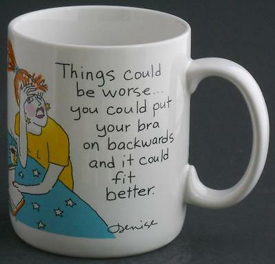 Things Could Be Worse You Could Put Cup Mug / Hallmark Shoebox Greetings Funny