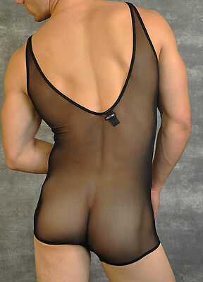 Body débardeur NEOFAN taille L transparence totale sheer sexy Ref S08