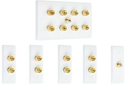 Complete 4.1 Slim Surround Sound Speaker Wall Face Plate Kit