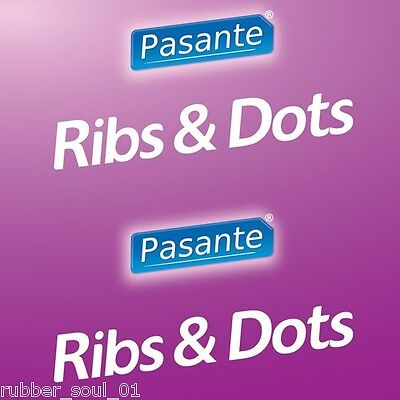 Pasante Ribs & Dots Condoms - Available in 6, 12, 24, 36, 48 or 100 packs