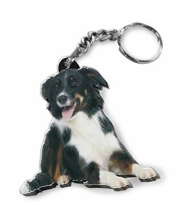 MIRRORED ACRYLIC BORDER COLLIE KEYCHAIN DOG KEYRING KEY CHAINS CHAIN  MadeinUSA