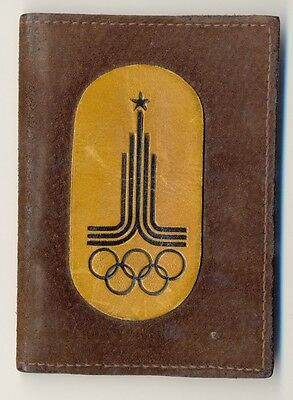 XXII Moscow-1980 Olympics Games Souvenir LOGO Leather Cover