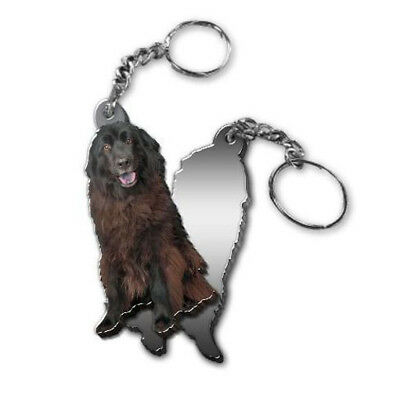 MIRRORED ACRYLIC NEWFOUNDLAND KEYCHAIN DOG KEYRING Made in USA KEY CHAINS CHAIN