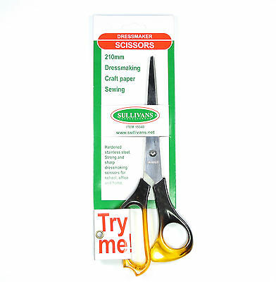 Quality Sullivans Dressmaking Scissors 21cm Strong & Sharp Craft Paper Sewing