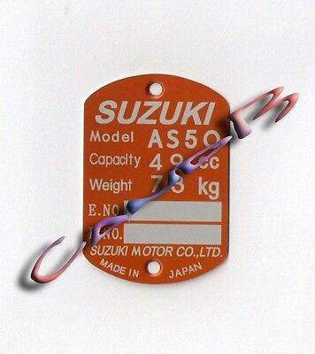 Plaque   Suzuki    As 50