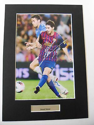 Lionel Messi signed autograph photo