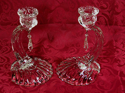 Cambridge Crystal Caprice Candlesticks #70 (2)