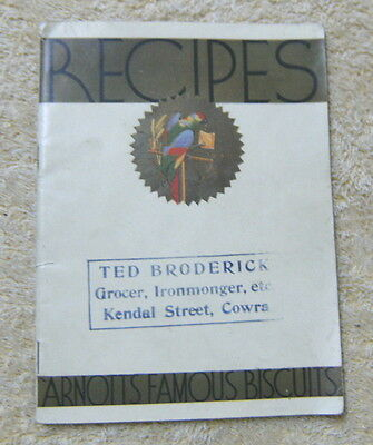 #d2.  Early Arnotts Recipe Book - Ted Broderick, Grocer, Cowra