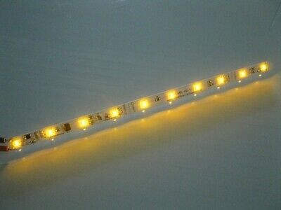 S040 LED Waggonbeleuchtung 230mm gelb mit 10 LEDs Beleuchtung Waggons