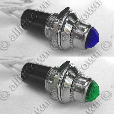 12v Indicator Pilot Light Lamps Dash Toggle Signal Blue Green Light Hot Rat Rod