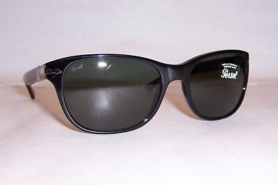 90d0dae80b NEW AUTHENTIC PERSOL Sunglasses PO3204S 95 31 Black Crystal Green ...