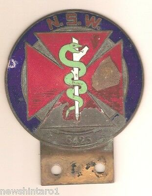 #d9. Early New South Wales Doctor Car Badge, Enamel Chipping