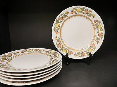 FRANCISCAN PICKWICK 6 DINNER PLATES
