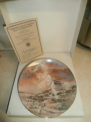 """""""The First Christmas Eve"""" 1st Ltd Ed Gerald R. Miller Collector Plate #1145"""
